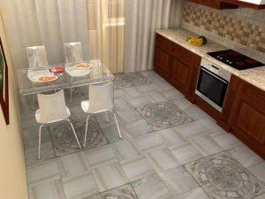 Красивая напольная плитка для кухни